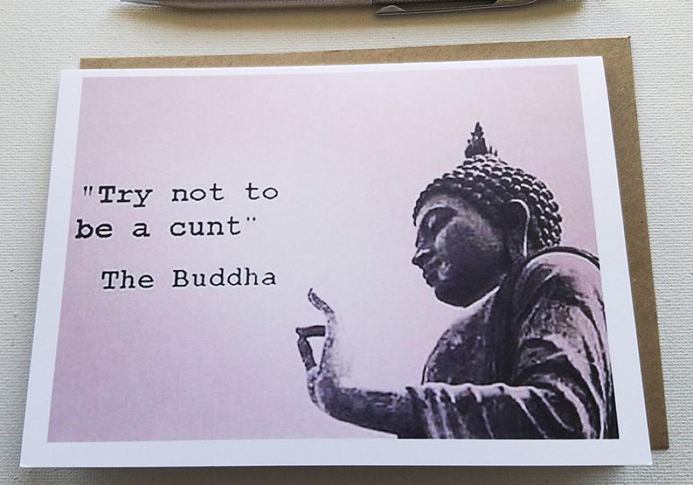 xHATEMAIL The Buddha Says Anti-greeting Card Handmade Cards